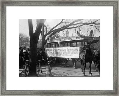 Suffrage Parade, C1915 Framed Print