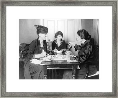 Suffragette Meeting Framed Print by Granger