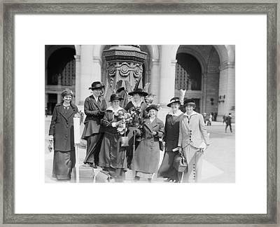 Suffragettes, 1914 Framed Print