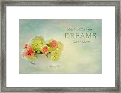 Sugar And Spice With Message Framed Print