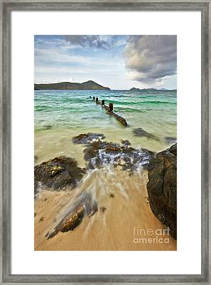Sugar Bay Resort Beach Framed Print by Eyzen M Kim