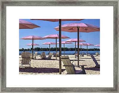Sugar Beach Summer Framed Print by Nicky Jameson