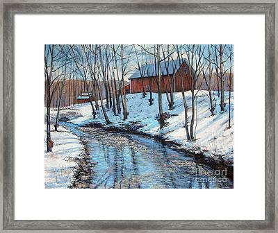 Sugar Brook Framed Print by Gerard Natale