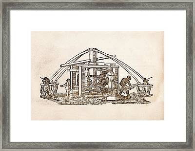 Sugar Cane Mill Framed Print by Middle Temple Library