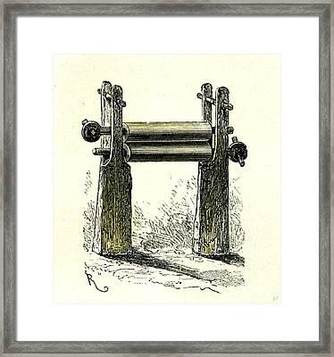 Sugar Cane Mill Peru 1869 Framed Print