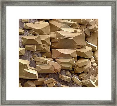 Sugar Crystals Framed Print