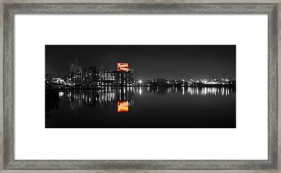 Sugar Glow - Domino Sugars - Vibrant Color Splash Framed Print
