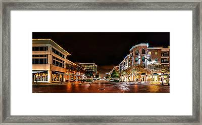 Sugar Land Town Square Framed Print
