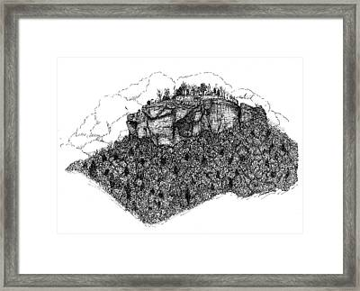 Sugar Loaf Mtn. Heber Springs Ar. Framed Print by Lee Halbrook