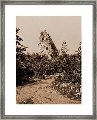 Sugar Loaf Rock, Mackinac Island, Rock Formations Framed Print