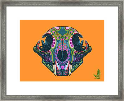 Framed Print featuring the digital art Sugar Lynx  by Nelson dedos Garcia