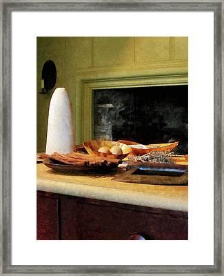 Sugar Nutmeg And Eggs Framed Print by Susan Savad