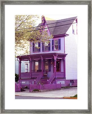 Sugar Plum Purple Victorian Home Framed Print by Kristie Hubler