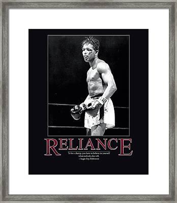 Sugar Ray Robinson Reliance Framed Print