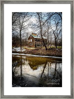 Sugar Shack In Deep River County Park Framed Print by Paul Velgos