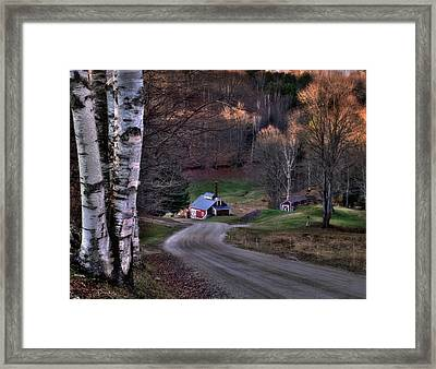 Sugar Shack - Reading Vermont Framed Print by Thomas Schoeller