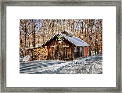 Sugar Shack - Southbury Connecticut Framed Print by Thomas Schoeller