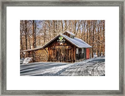 Sugar Shack - Southbury Connecticut Framed Print