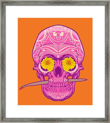 Sugar Skull 2 Framed Print