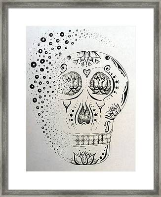 Sugar Skull Framed Print