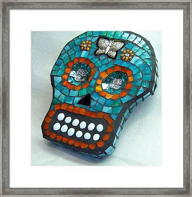 Sugar Skull Framed Print by Jenny Bowman