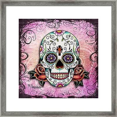 Sugar Skull Framed Print by Maria Arango