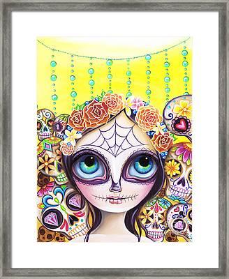 Sugar Skull Princess Framed Print