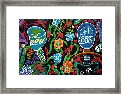 Sugar Skull Spirits 2 Framed Print by Laura Barbosa