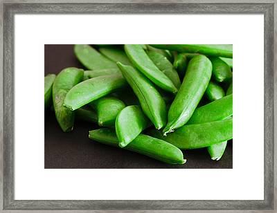 Sugar Snap Peas Framed Print by Tom Gowanlock