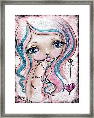 Sugar Spun Zombie Framed Print by Lizzy Love of Oddball Art Co