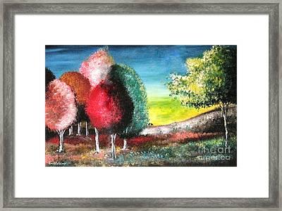 Sugar Trees Framed Print by Roni Ruth Palmer