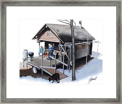 Sugarbush Cabin Framed Print