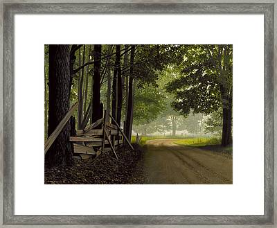 Sugarbush Road Framed Print by Michael Swanson
