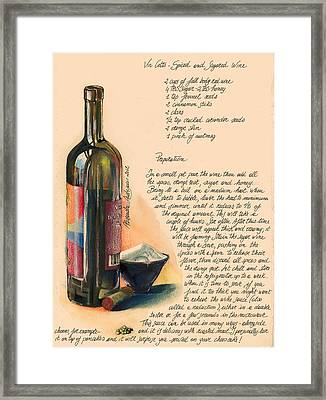 Sugared Wine Framed Print by Alessandra Andrisani