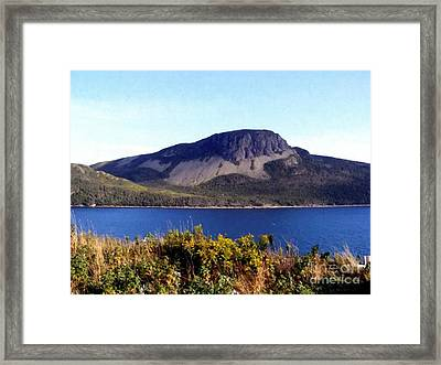 Framed Print featuring the painting Sugarloaf Hill In Summer by Barbara Griffin