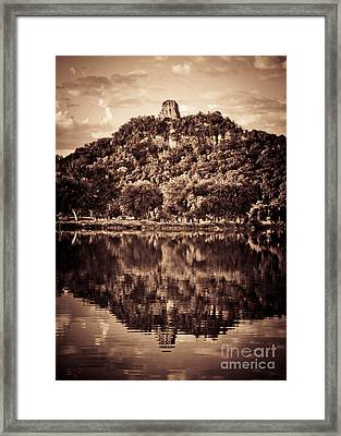 Framed Print featuring the photograph Sugarloaf Reflection by Kari Yearous