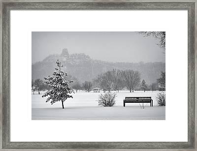 Sugarloaf Snowstorm Framed Print