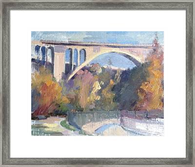 Suicide Bridge Winter Framed Print by Karla Bartholomew