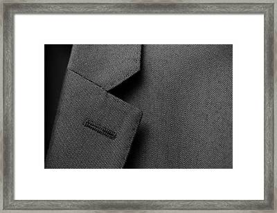 Suit Texture Framed Print