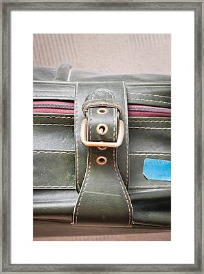 Suitcase Buckle Framed Print