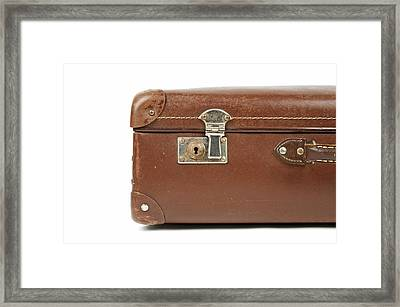 Suitcase Framed Print by Chevy Fleet