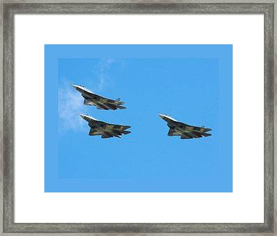 Sukhoi T 50 Stealth Fighter Framed Print by L Brown