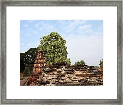 Sukhothai Historical Park - Sukhothai Thailand - 011311 Framed Print by DC Photographer