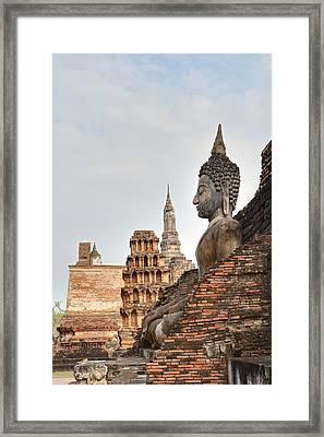 Sukhothai Historical Park - Sukhothai Thailand - 01136 Framed Print by DC Photographer