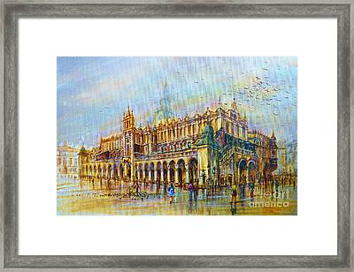Sukiennice In Cracow Framed Print