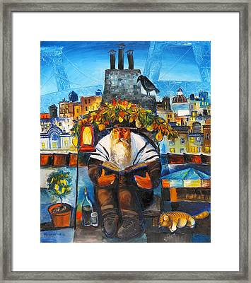 Sukkot In Brooklyn Framed Print by Mikhail Zarovny