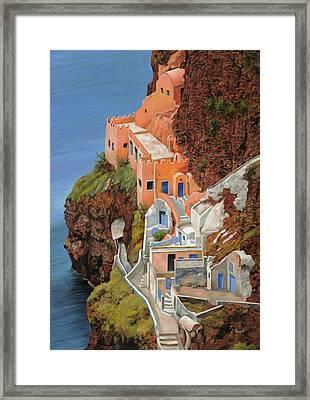 sul mare Greco Framed Print by Guido Borelli