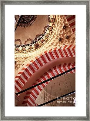 Suleymaniye Arches Framed Print by John Rizzuto