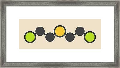Sulfur Mustard Molecule Framed Print by Molekuul