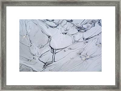 Sulphur Caldron Mud Art Yellowstone Framed Print by Bruce Gourley